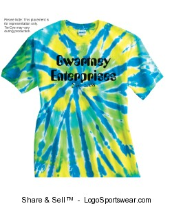 Tie-Dyed Multi-Color Cut-Spiral Short Sleeve T-shirt  Design Zoom